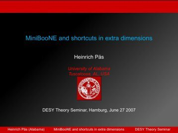MiniBooNE and shortcuts in extra dimensions