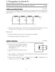 7.¨Ubungsblatt zur Physik II