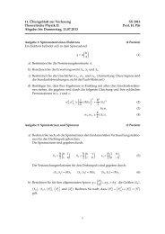 11. Übungsblatt zur Vorlesung SS 2013 Theoretische Physik II Prof ...