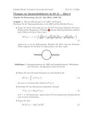 ¨Ubungen zur Quantenfeldtheorie im SS 12 — Blatt 8