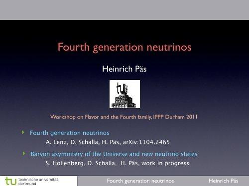 Fourth generation neutrinos