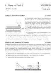 6.¨Ubung zur Physik I WS 2008/09