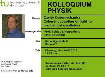 Kein Folientitel - Fakultät Physik