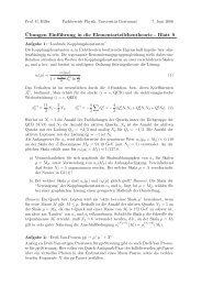 ¨Ubungen Einführung in die Elementarteilchentheorie - Blatt 9