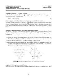 7. Übungsblatt zur Vorlesung SS 10 Höhere Quantenmechanik Prof ...