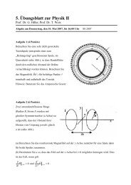 5. Übungsblatt zur Physik II