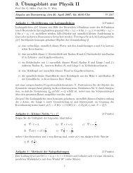 3.¨Ubungsblatt zur Physik II