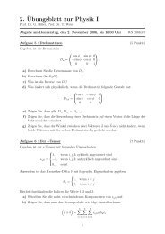2.¨Ubungsblatt zur Physik I