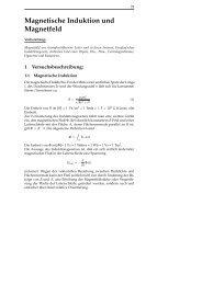 Magnetische Induktion und Magnetfeld