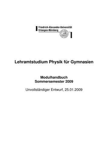 Modulhandbuch SS 09