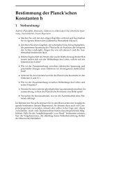 Bestimmung der Planck'schen Konstanten h