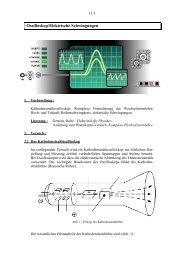 Versuch 11: Oszilloskop und Elektrische Schwingungen