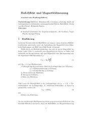 Hall-Effekt und Magnetfeldmessung