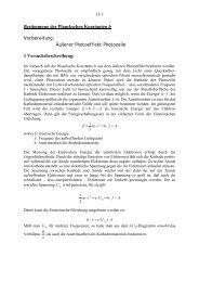 Bestimmung der Planckschen Konstanten h