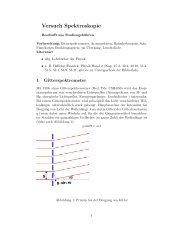 Versuch Spektroskopie