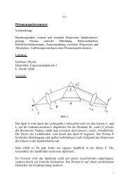 Versuch 19: Prismenspektrometer