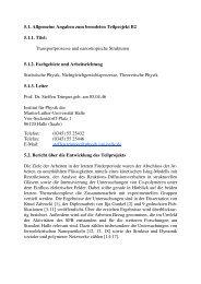 5.1. Allgemeine Angaben zum beendeten Teilprojekt B2 5.1.1. Titel ...