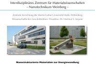 IZ Materialwissenschaften (Dr. Leipner - Martin-Luther-Universität ...