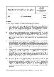 V1 Photovoltaik - Martin-Luther-Universität Halle-Wittenberg