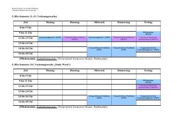 5. BSc-Semester (1.-13. Vorlesungswoche) - Fakultät für Physik und ...