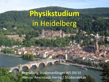 Das Physikstudium An der Universität Heidelberg - Fakultät für ...