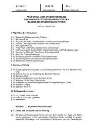 Prüfungsordnung - Fakultät für Physik und Astronomie