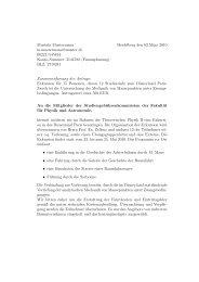Anträge - Fakultät für Physik und Astronomie