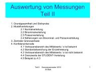 Auswertung von Messungen Teil II