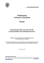 Studiengang Lehramt Gymnasium Physik - Die Physikalisch ...