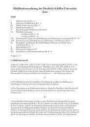 Habilitationsordnung der FSU - Die Physikalisch-Astronomische ...