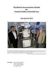 2012 - Die Physikalisch-Astronomische Fakultät - Friedrich-Schiller ...