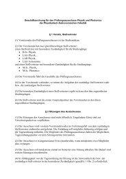 (1) Vorsitzender des Prüfungsausschusses ist der Studiendekan. (2 ...