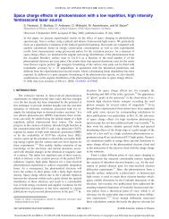 Space charge effects in photoemission with a low repetition, high ...