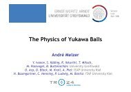 The Physics of Yukawa Balls