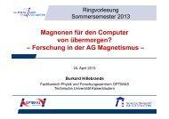 Dieser Vortrag - Fachbereich Physik der Universität Kaiserslautern