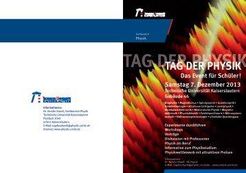 """""""Tag der Physik 2013"""" Samstag, 7. Dezember 2013 - Fachbereich ..."""