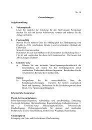 Nr. 18 Gasentladungen Aufgabenstellung: 1. Vakuumphysik Lesen ...