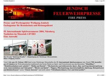 JENDSCH FEUERWEHRPRESSE FIRE PRESS - Wolfgang Jendsch