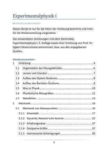 Beispiel - Fachbereich Physik der Universität Kaiserslautern