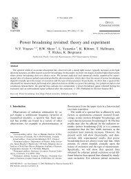 Power broadening revisited - Fachbereich Physik der Universität ...