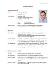 CURRICULUM VITAE General information Education Professional ...