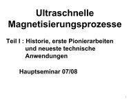 Philipp Pirro: Ultraschnelle Magnetisierungsprozesse Teil I