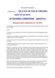 Conference on QUANTUM FIELD THEORY OF EXTERNAL ...