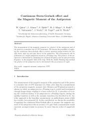 Continuous Stern-Gerlach effect and the Magnetic Moment of the ...