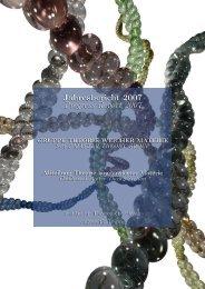 Jahresbericht 2007 Progress Report 2007 Jahresbericht 2007 ...