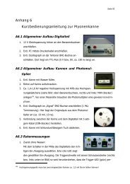 Anhang 6 Kurzbedienungsanleitung zur Myonenkanne