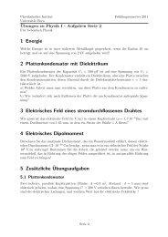 1 Energie 2 Plattenkondensator mit Dielektrikum 3 ... - Universität Bern