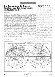 Die Bestimmung der Sonnen - Fachbereich Physik und Astronomie ...