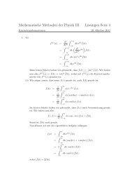 Mathematische Methoden der Physik III Lösungen Serie 4