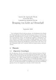 Versuchsanleitung Ultraschall (pdf, 154KB) - Universität Bern